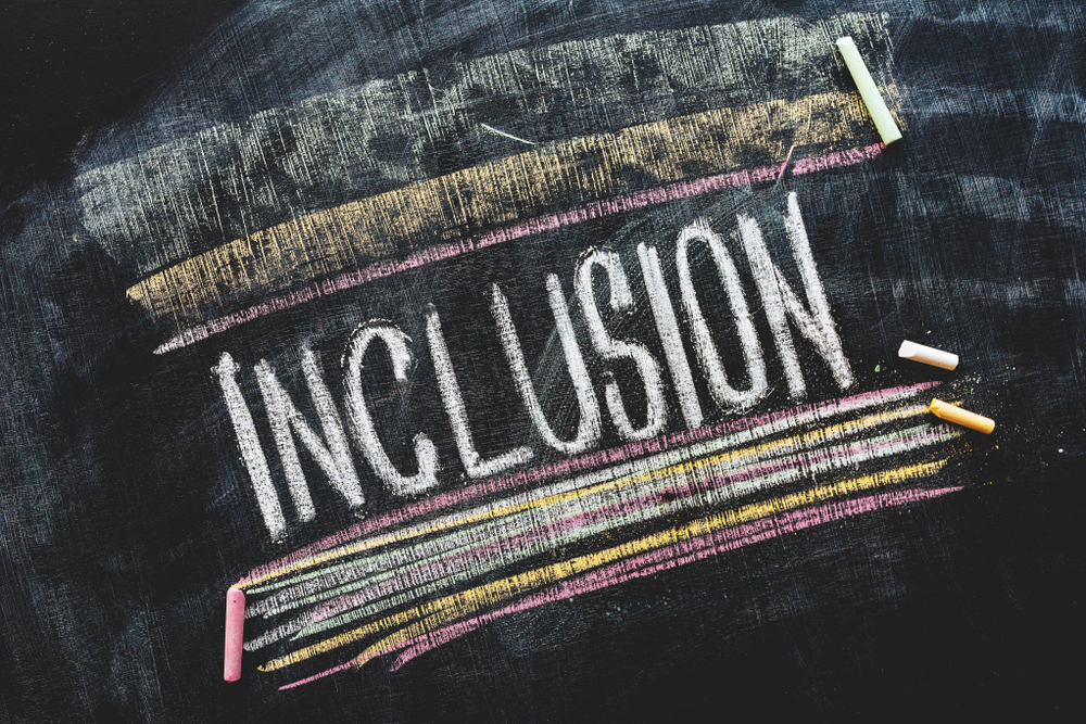 Successful inclusion written on chalkboard